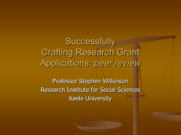 peer review - Keele University