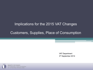 Implications for 2015 VAT Changes
