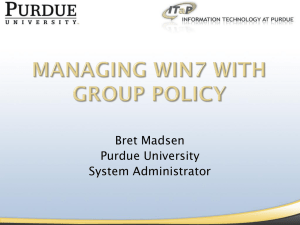 Managing Win7 with Group Policy