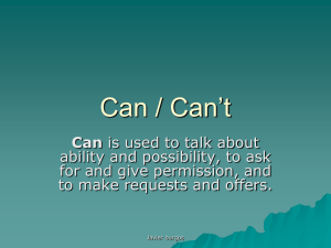 Can / Can`t
