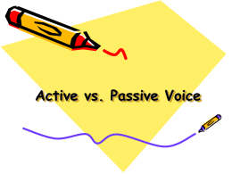 Active vs. Passive Voice Learning Targets