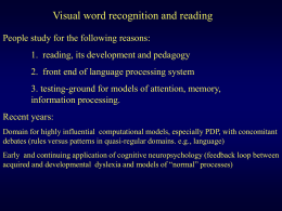 Visual Word Recognition Overview