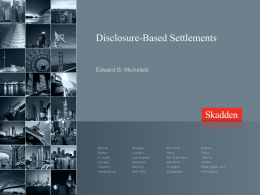 Are disclosure-based settlements