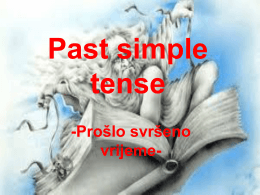 Past Simple Tense Quiz Which sentence is correct?