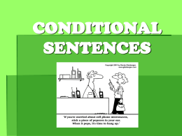CONDITIONAL SENTENCES - LEARNING ENGLISH WITH TANIA