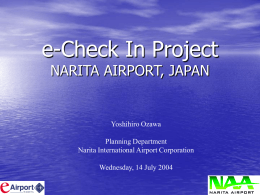 NARITA e-check-in - Biometrics TF - 13 July 04
