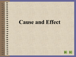 Cause and Effect - Delta State University