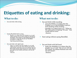 manners of eating and drinking