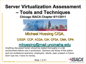 Server Virtualization Assessment – Tools and Techniques