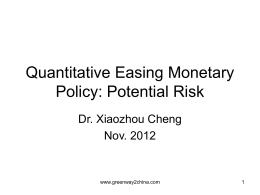 QE put high risk for the world economy