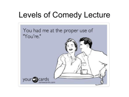 Levels of Comedy powerpoint