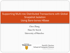 Supporting Multi-row Distributed Transactions with Global Snapshot