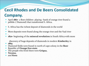 Cecil Rhodes and De Beers Consolidated Company.