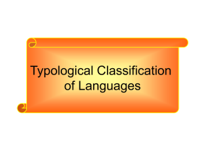 Typological Classification of Languages