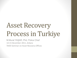 Asset Recovery Process in Turkiye