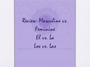 Masculin ou Féminin? Les articles