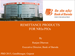 Remittance Products for NRIs/PIOs