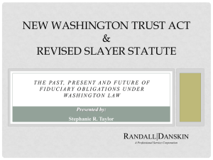 Evolving Obligations of Fiduciaries in Washington State