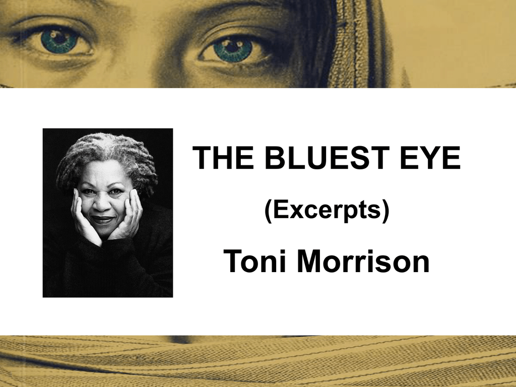 the bluest eye excerpts toni morrison