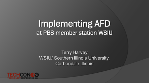 Practical Implementation of AFD at Your Station