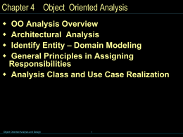 Chap 4 - Object Oriented Analysis