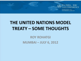 the united nations model treaty - International Fiscal Association (IFA
