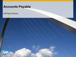 Accounts Payable - SAP Help Portal