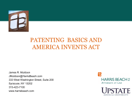 Patenting Basics and the America Invents Act