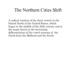 The progress of the Northern Cities Shift in the Inland North [N=71]