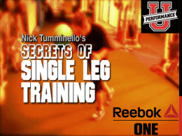 Secrets of Single Leg Training - Nor