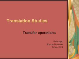 Translation Studies - Erciyes University