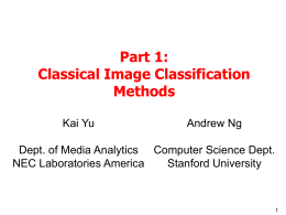 State-of-the-art Image Classification Methods