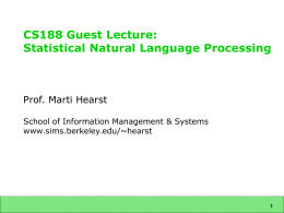 cs188-lecture - UC Berkeley School of Information