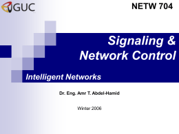 Signaling and Network Control