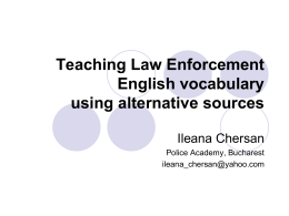 Teaching Law Enforcement English vocabulary using alternative