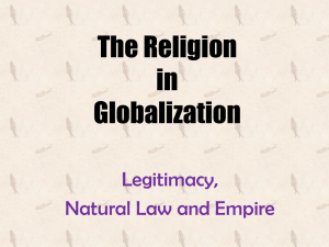 The Religion in Globalization