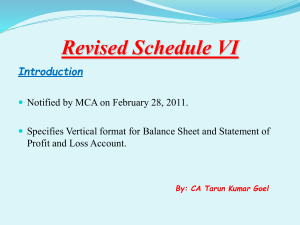 Revised Schedule VI PPT