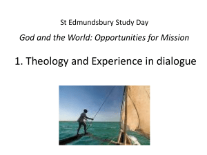 The Yorkshire Ministry Course Theology Mission and Praxis 2009