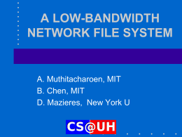 A Low-Bandwidth Network File System