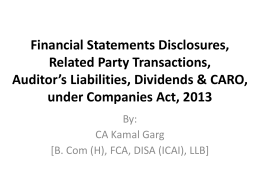 under Companies Act, 2013