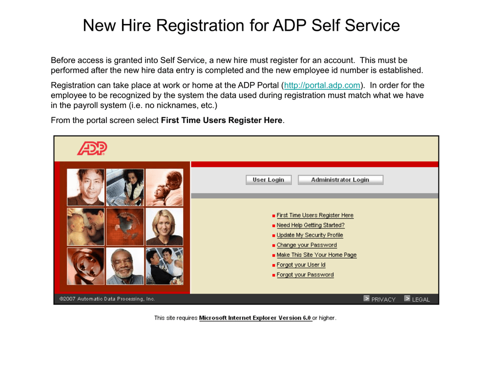 How to Register for ADP Self Service