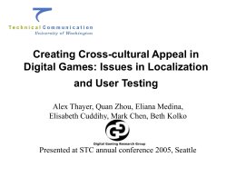 Creating Cross-cultural Appeal in Digital Games