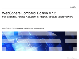 IBM-BPM-Lombardi-WLE-V7.2-WhatsNew-Overview