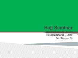 Hajj_Seminar - Islamic Center of Naperville