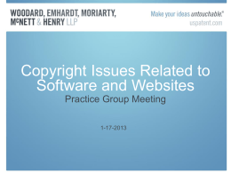 Copyrights for Software and Websites