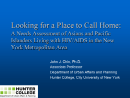 Asian Immigrant Community Institutions in NYC and HIV