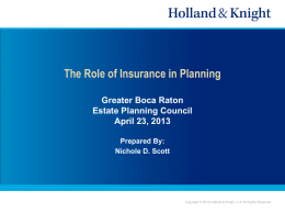 Nichole Scott PPT - Greater Boca Raton Estate Planning Council