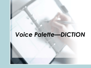 VP1 Diction Lessons 1-5