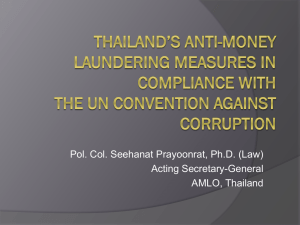 Thailand`s Anti-Money Laundering Measures in Compliance with the