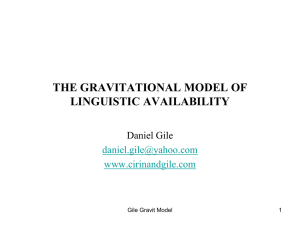 the gravitational model of linguistic availability